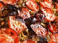 Рецепта Лесна Имам Баялдъ - традиционно турско ястие с патладжани, чушки и домати на фурна